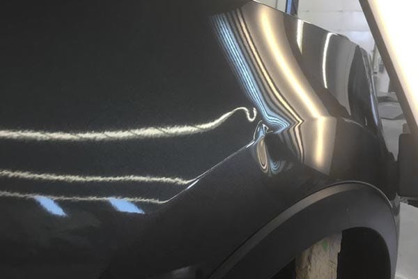 Dent in auto body